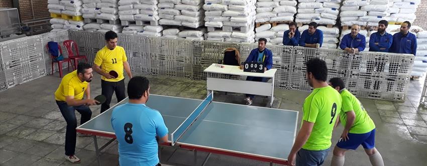 مسابقات تنیس روی میز آذین لوله